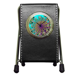 Beautiful Mandala Created With Fractal Forge Pen Holder Desk Clocks