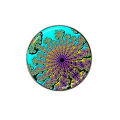Beautiful Mandala Created With Fractal Forge Hat Clip Ball Marker (4 pack)