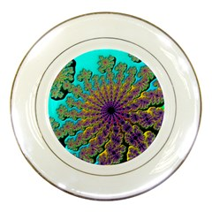 Beautiful Mandala Created With Fractal Forge Porcelain Plates