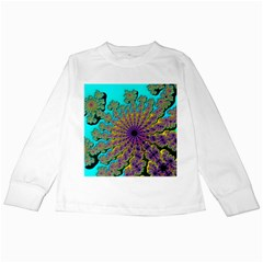 Beautiful Mandala Created With Fractal Forge Kids Long Sleeve T-Shirts