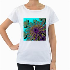 Beautiful Mandala Created With Fractal Forge Women s Loose Fit T Shirt (white)