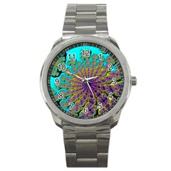 Beautiful Mandala Created With Fractal Forge Sport Metal Watch