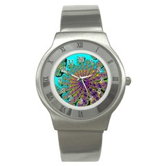 Beautiful Mandala Created With Fractal Forge Stainless Steel Watch