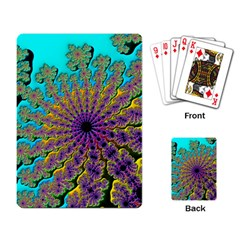 Beautiful Mandala Created With Fractal Forge Playing Card