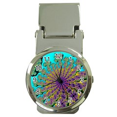 Beautiful Mandala Created With Fractal Forge Money Clip Watches