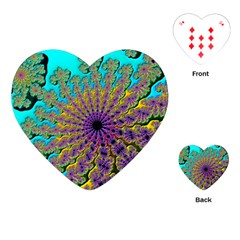 Beautiful Mandala Created With Fractal Forge Playing Cards (Heart)