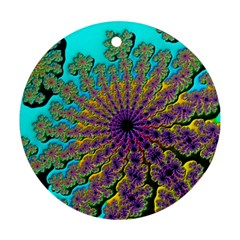 Beautiful Mandala Created With Fractal Forge Round Ornament (Two Sides)