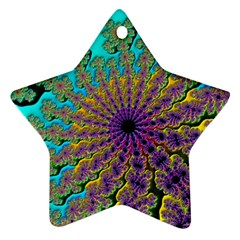 Beautiful Mandala Created With Fractal Forge Star Ornament (Two Sides)
