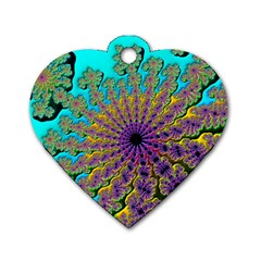 Beautiful Mandala Created With Fractal Forge Dog Tag Heart (One Side)