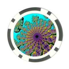 Beautiful Mandala Created With Fractal Forge Poker Chip Card Guard