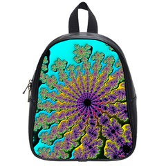 Beautiful Mandala Created With Fractal Forge School Bags (small)