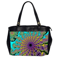 Beautiful Mandala Created With Fractal Forge Office Handbags (2 Sides)