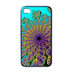 Beautiful Mandala Created With Fractal Forge Apple Iphone 4 Case (black)