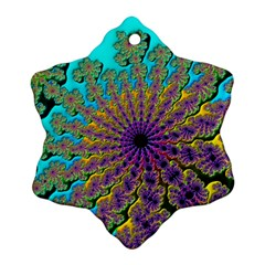 Beautiful Mandala Created With Fractal Forge Snowflake Ornament (two Sides)