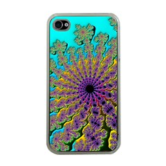 Beautiful Mandala Created With Fractal Forge Apple iPhone 4 Case (Clear)