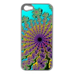 Beautiful Mandala Created With Fractal Forge Apple Iphone 5 Case (silver)