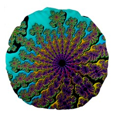 Beautiful Mandala Created With Fractal Forge Large 18  Premium Round Cushions