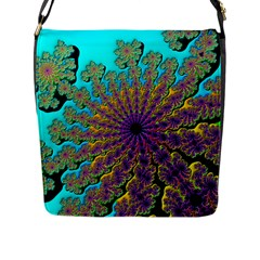 Beautiful Mandala Created With Fractal Forge Flap Messenger Bag (l)