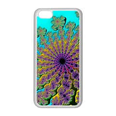 Beautiful Mandala Created With Fractal Forge Apple iPhone 5C Seamless Case (White)