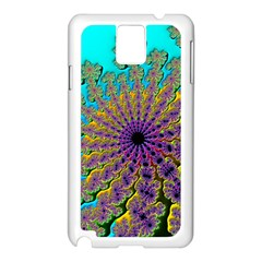 Beautiful Mandala Created With Fractal Forge Samsung Galaxy Note 3 N9005 Case (white)