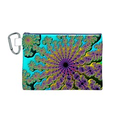 Beautiful Mandala Created With Fractal Forge Canvas Cosmetic Bag (M)