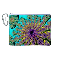 Beautiful Mandala Created With Fractal Forge Canvas Cosmetic Bag (L)