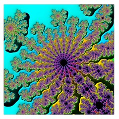 Beautiful Mandala Created With Fractal Forge Large Satin Scarf (Square)