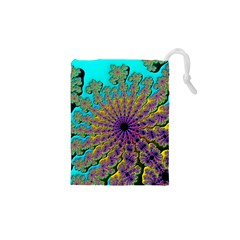 Beautiful Mandala Created With Fractal Forge Drawstring Pouches (XS)