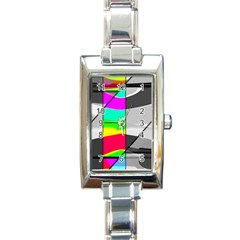 Colors Fadeout Paintwork Abstract Rectangle Italian Charm Watch