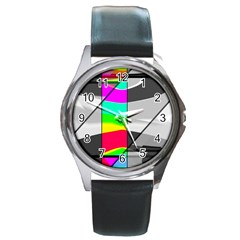 Colors Fadeout Paintwork Abstract Round Metal Watch