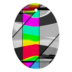 Colors Fadeout Paintwork Abstract Ornament (oval)