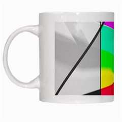 Colors Fadeout Paintwork Abstract White Mugs