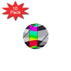 Colors Fadeout Paintwork Abstract 1  Mini Buttons (10 Pack)