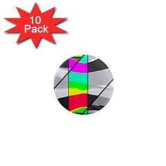Colors Fadeout Paintwork Abstract 1  Mini Magnet (10 pack)