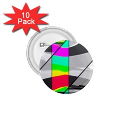 Colors Fadeout Paintwork Abstract 1 75  Buttons (10 Pack)