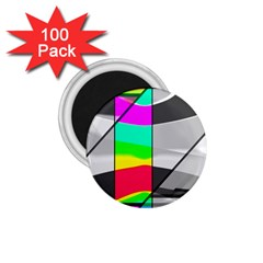 Colors Fadeout Paintwork Abstract 1.75  Magnets (100 pack)