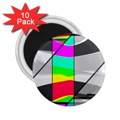 Colors Fadeout Paintwork Abstract 2.25  Magnets (10 pack)