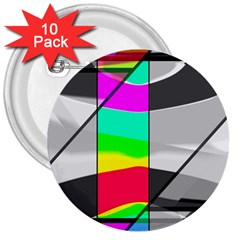 Colors Fadeout Paintwork Abstract 3  Buttons (10 pack)