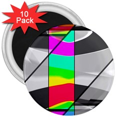 Colors Fadeout Paintwork Abstract 3  Magnets (10 Pack)