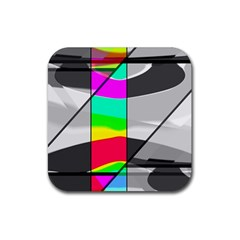 Colors Fadeout Paintwork Abstract Rubber Square Coaster (4 Pack)