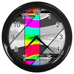 Colors Fadeout Paintwork Abstract Wall Clocks (black)