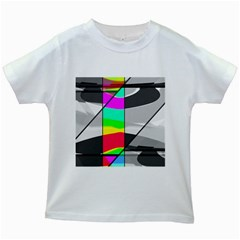 Colors Fadeout Paintwork Abstract Kids White T-Shirts