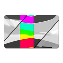 Colors Fadeout Paintwork Abstract Magnet (Rectangular)