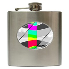 Colors Fadeout Paintwork Abstract Hip Flask (6 oz)