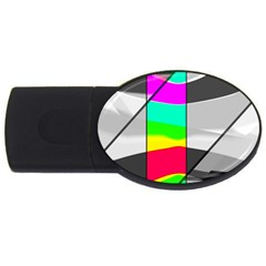 Colors Fadeout Paintwork Abstract Usb Flash Drive Oval (2 Gb)