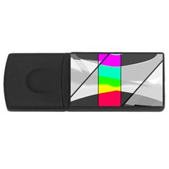Colors Fadeout Paintwork Abstract USB Flash Drive Rectangular (2 GB)