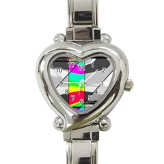 Colors Fadeout Paintwork Abstract Heart Italian Charm Watch