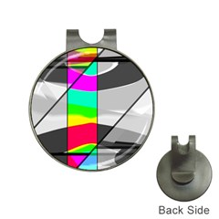 Colors Fadeout Paintwork Abstract Hat Clips With Golf Markers