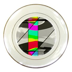 Colors Fadeout Paintwork Abstract Porcelain Plates