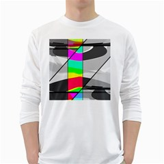 Colors Fadeout Paintwork Abstract White Long Sleeve T-Shirts